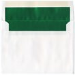 6x8 White with Green Foil Lined Envelopes - 1