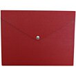 Recycled Red Euro Board Snap Closure Portfolio