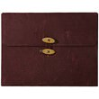 Burgundy Rainforest Button & String Portfolio - 1