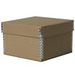 5 3/8 x 5 3/8 x 3 1/2 Recycled Brown Kraft Box - 1
