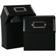 5 x 5 1/2 x 2 1/2 Recycled Black Kraft CD Box - 1
