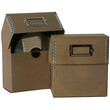 5 x 5 1/2 x 2 1/2 Recycled Brown Kraft CD Box