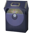 5 x 5 1/2 x 2 1/2 Purple Frost Plastic CD Box