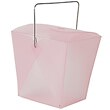 4 x 3 1/2 x 4 Pink Plastic Chinese Containers - 1