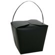 9 1/2 x 8 1/2 x 7 1/2 Black Chinese Container - 1