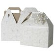 4 x 8 x 5.25 White with Shooting Stars Gable Box