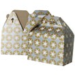 4 x 8 x 5 1/4 Silver & Gold with Stars Gable Box - 1