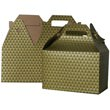 4 x 8 x 5 1/4 Green & Gold Diamond Gable Box