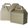 4 x 8 x 5 1/4 Gold & Silver Diamond Gable Box