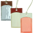 Plastic Gift Tags with Leather Trim - 1