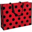 Reusable Shopping Bags with Dots- 19.5 x 15 x 5.5