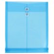 Blue Letter Open End Plastic Envelopes-9.75x11.75