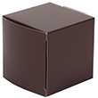2 x 2 x 2 Chocolate Brown Glossy Gift Boxes