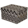 6 3/4 x 8 5/8 x 5 1/8 Black Zig Zag design Box