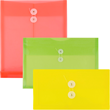 Plastic Envelopes with Button & String Closure - 1