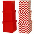 Red 3 Piece Nesting Box Set
