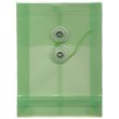Green A6 Plastic Envelopes - 4 1/4 x 6 1/4