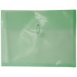 Green Letter Booklet Plastic Envelopes - 9.75x13 - 1