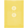 Yellow A6 Plastic Envelopes - 4 1/4 x 6 1/4 - 1