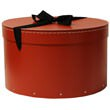 13 x 8 Heavy Duty Red Hat Box with Ribbon