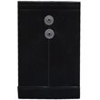 Black 6 1/4 x 9 1/4 Plastic Envelopes - 1