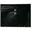 Black Letter Booklet Plastic Envelopes- 9.75 x 13
