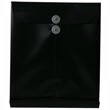 Black Letter Open End Plastic Envelopes- 9.8x11.8