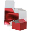 6 x 6 x 4 Red Foil Gift Box