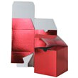 7 x 7 x 7 Red Foil Gift Box