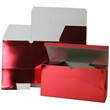 9 x 4 1/2 x 4 1/2 Red Foil Gift Box
