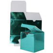 7 x 7 x 7 Teal Green Foil Gift Box