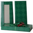5 1/2 x 11 1/2 x 1 1/2 Green Diamond Box