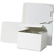 9 x 4 1/2 x 4 1/2 White Open Top Gift Box - 1