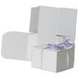 3 x 3 x 2 White Open Top Gift Box - 1