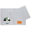 White Matte Folders and Matching Envelopes
