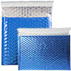 Blue Metallic Bubble Mailers-Self AdhesiveClosure