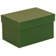 4 x 6 x 3 3/4 Green Matte Box with Lid - 1