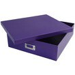 12 3/4 x 14 1/2 x 3 3/4 Purple Heavy Duty Box