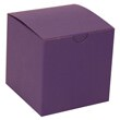 6 x 6 x 6 Purple Kraft Box