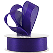 Purple Woven Edge Ribbon - 1