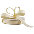 Ivory Grosgrain Ribbon - 1