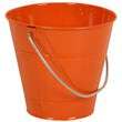 Orange Metal Buckets