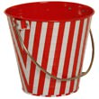 Striped Metal Pails - 1