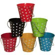 Decorative Metal Pails with Dots - 1