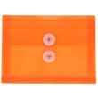 Orange Index Plastic Envelopes - 5 1/2 x 7 1/2 - 1