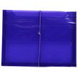 Purple Plastic Envelopes with Elastic Closure