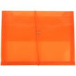 Orange Plastic Envelopes with Elastic Closure - 1