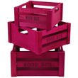Pink Wooden Crates