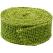 Green Burlap Ribbon - 1