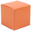 2 x 2 x 2 Orange Glossy Gift Box - 1